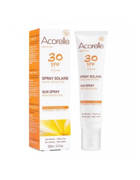 Spray Solar SPF 30 Acorelle - 100 ml.