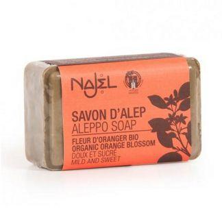 Jabón de Alepo con Flor de Azahar Najel - pastilla de 100 gramos