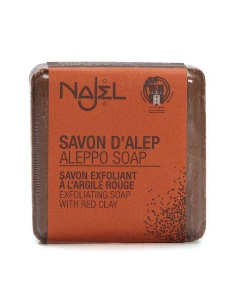 Jabón de Alepo con Arcilla Roja Najel - pastilla de 100 gramos