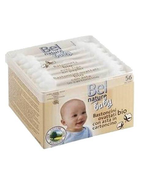 Bastoncillos de Oídos para Bebé Bel Nature - 56 unidades