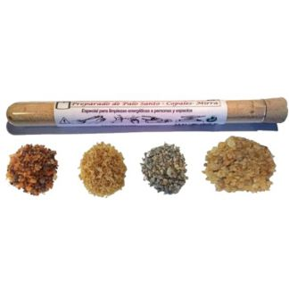 Preparado de Palo Santo, Copales y Mirra - 10 gramos