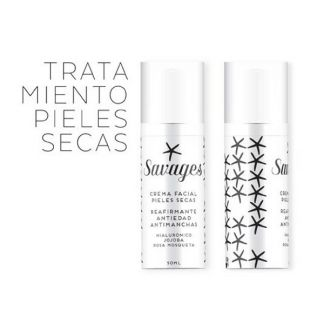 Crema Facial Pieles Secas Antiedad Savages - 50 ml.