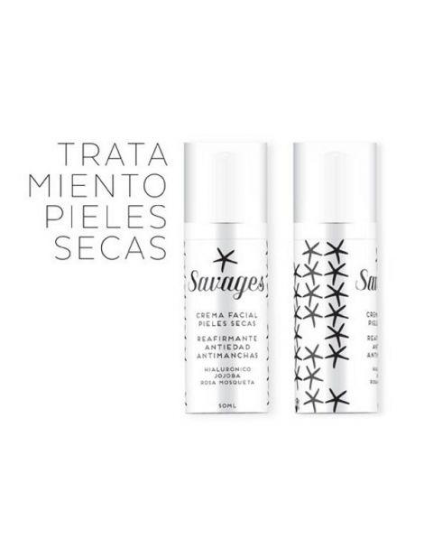 Crema Facial Pieles Secas Antiedad Savages - 50 ml.