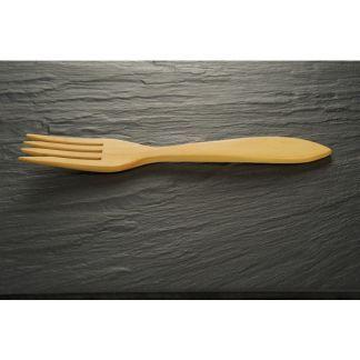 Tenedor Pequeño de Madera de Boj - 15 cm.