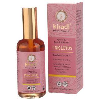 Aceite de Loto Rosado Pieles Mixtas Khadi - 100 ml.