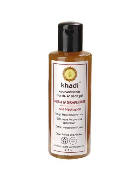 Gel de Baño Neem y Pomelo Khadi - 210 ml.