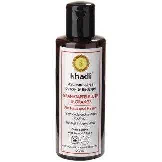 Gel de Baño Granada y Naranja Khadi - 210 ml.
