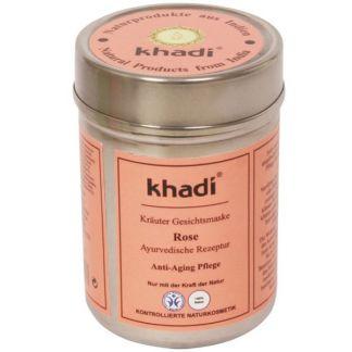 Mascarilla Rosa Antiedad Khadi - 50 gramos