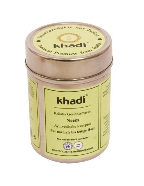 Mascarilla Neem Pieles Normales-Semigrasas Khadi - 50 gramos