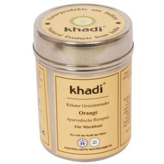 Mascarilla Naranja Pieles Mixtas-Celulitis Khadi - 50 gramos