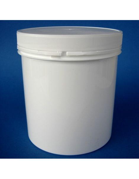 Tarro de Plástico Blanco Cilíndrico Autoprecinto - 500 ml.