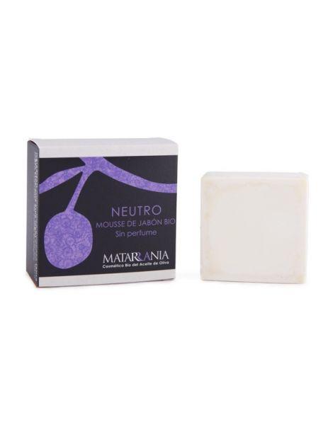 Mousse de Jabón Bio Neutro sin Perfume Matarrania - pastilla de 120 ml.