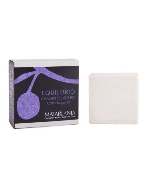 Champú Sólido Bio Equilibrio Cabello Graso Matarrania - pastilla de 120 ml.