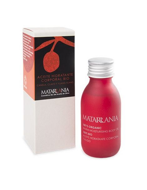 Aceite Hidratante Corporal de Canela, Clavo y Ylang-Ylang Bio Matarrania - 100 ml.