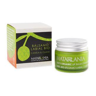 Bálsamo Labial de Canela y Clavo Bio Matarrania - 15 ml.