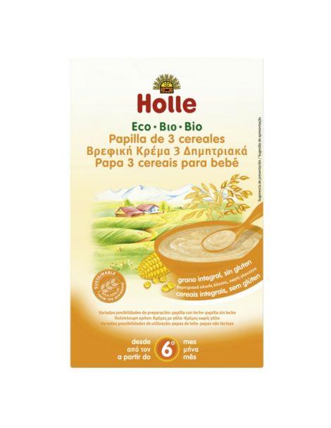Papillas de 3 Cereales Bio 6M Holle - 250 gramos