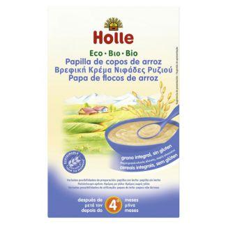 Papillas de Copos de Arroz Bio 4M Holle - 250 gramos