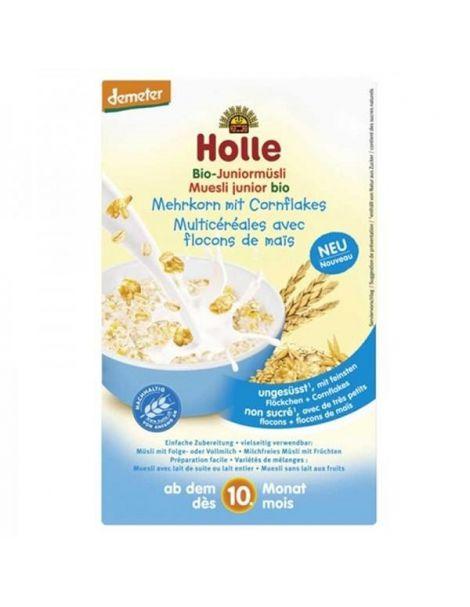 Papillas de Muesli Multicereales con Maíz Bio 10M Holle - 250 gramos