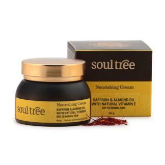 Crema Facial Nutritiva con Azafrán y Aceite de Almendras SoulTree - 60 gramos