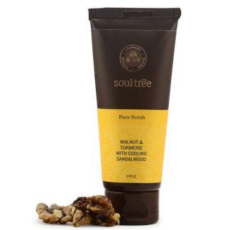 Exfoliante Facial con Nuez, Cúrcuma y Sándalo SoulTree - 100 gramos