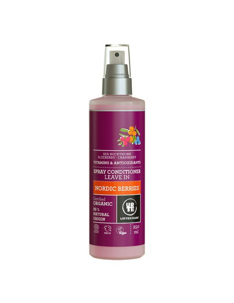 Acondicionador Spray Frutos Rojos Nórdicos Urtekram - 250 ml.