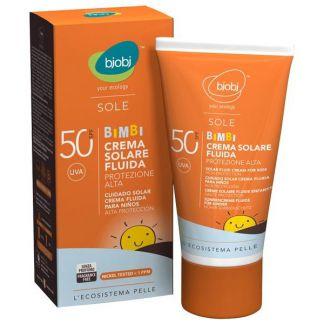 Crema Solar Fluida Bebé SPF 50 Bjobj - 125 ml.