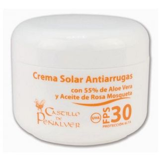 Crema Solar Antiarrugas FPS 30 Castillo de Peñalver - 100 ml.