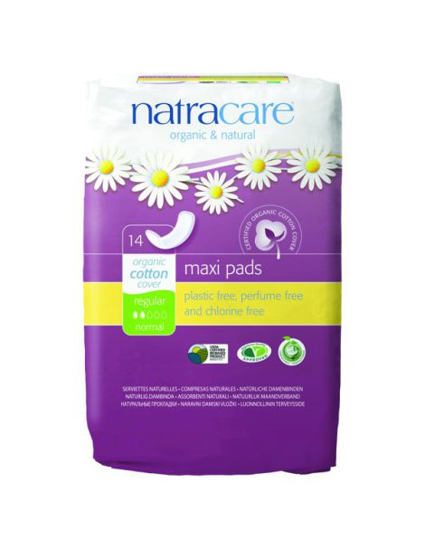 Compresa Regular Natracare - 14 unidades
