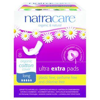 Compresa Ultra Extra Larga con Alas Natracare - 8 unidades