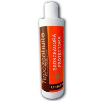 Leche Bronceadora Factor 6 de Tepezcohuite Lumen - 250 ml.