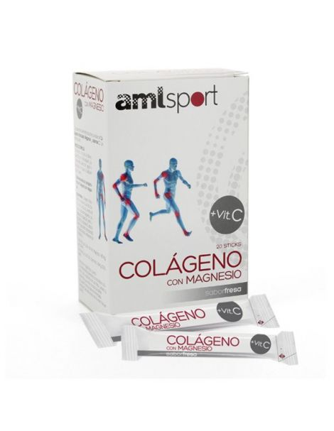 Colágeno con Magnesio + Vitamina C AML Sport Ana Mª. Lajusticia - 20 sticks