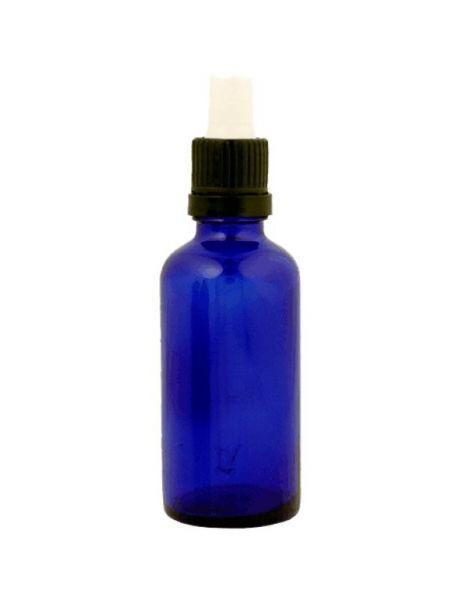 Frasco Cuentagotas Vidrio Azul Cobalto - 50 ml.
