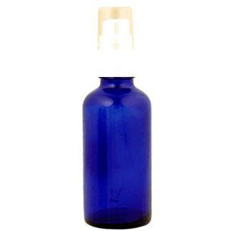 Frasco Vaporizador Vidrio Azul Cobalto - 50 ml.