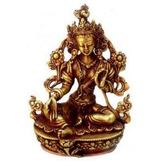 Estatua Tibetana Tara Verde Protección