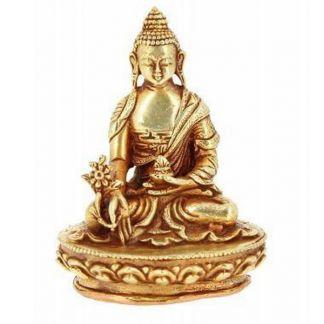 Estatua Tibetana Buda de la Medicina Curación