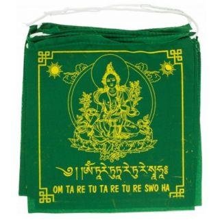 Banderas de Oración Tara Verde
