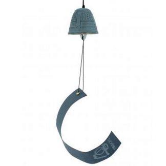 Campana Azul Feng Shui Iwachu - 4.5 cm.