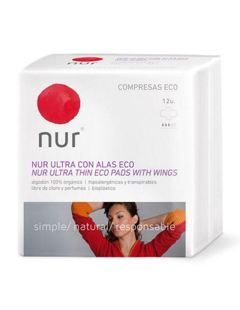 Compresa Ultrafina con Alas Nur - 12 unidades