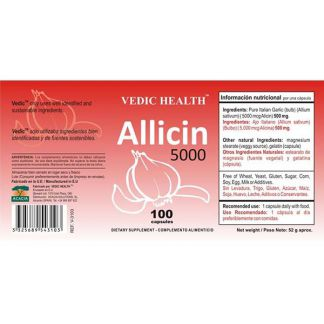 Allicin 5000 Vedic Health - 100 cápsulas