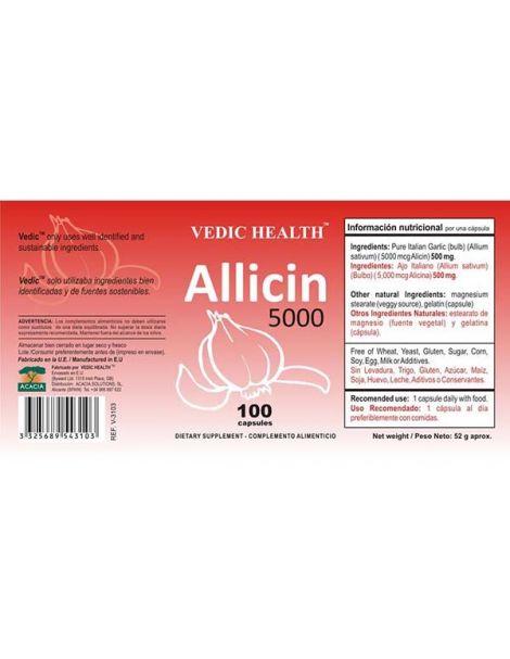 Allicin 5000 Vedic Health - 100 cápsulas