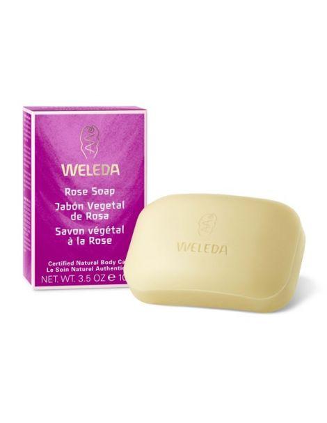 Jabón Vegetal de Rosa Weleda - 100 gr.