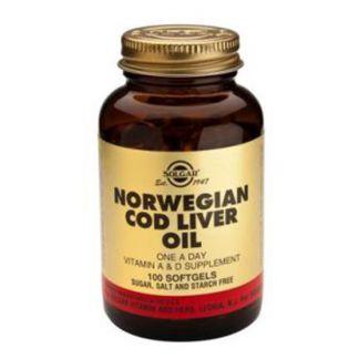 Aceite de Hígado de Bacalao Solgar - 100 perlas