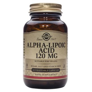 Ácido Alfa Lipoico 120 mg. Solgar - 60 cápsulas