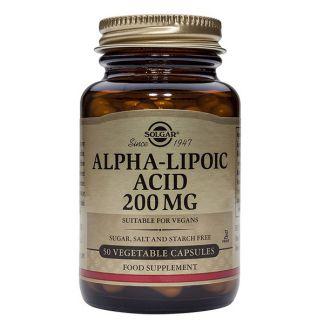 Ácido Alfa Lipoico 200 mg. Solgar - 50 cápsulas