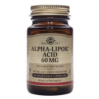 Ácido Alfa Lipoico 60 mg. Solgar - 30 cápsulas