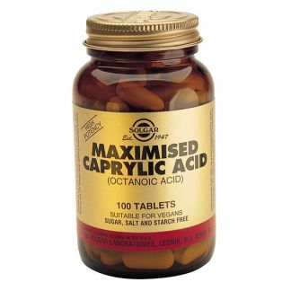 Ácido Caprílico Maximizado Solgar - 100 comprimidos