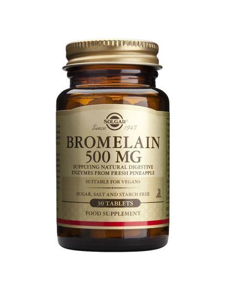 Bromelina Solgar - 30 comprimidos