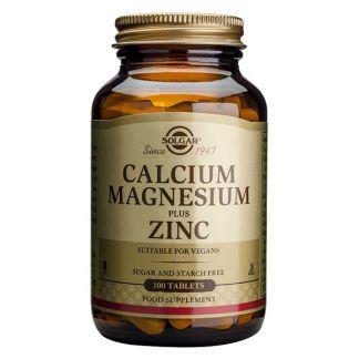 Calcio - Magnesio - Zinc Solgar - 100 comprimidos