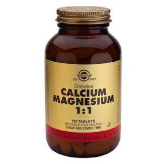 Calcio - Magnesio Quelado 1:1 Solgar - 120 comprimidos