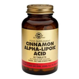 Canela China con Ácido Alfa Lipoico Solgar - 60 comprimidos